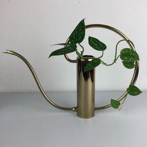 VINTAGE Mid Century Modern Brass Watering Can